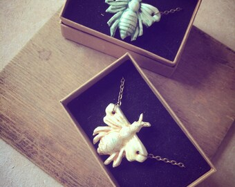 Porcelain Bee Necklace