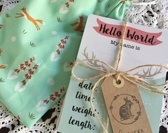 Girl Baby Milestone Cards set of 28 - Woodland Theme
