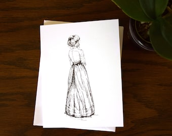 Anne Shirley Dress Notecard | Blank Notecards | Instant download