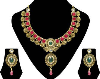 Bridal Traditional Earring Drop Jewellery Set