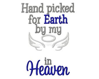 Hand Picked for Earth Blank 5x7 Embroidery Design -INSTANT DOWNLOAD-