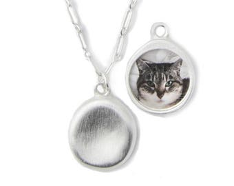 Personalized Silver Pet Charm Necklace