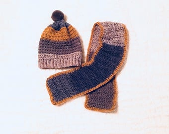Toddler Hat and Scarf Set