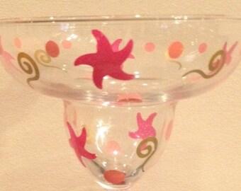 Margarita Glass, Starfish Margarita, Custom Margarita Glass, Cute Margarita Glass