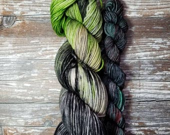 100% superwash merino   100g dk weight merino yarn with 20g minis  Hand dyed yarn indie dyed yarn extraordinary tales collection