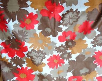 Vintage Schwartz Liebman Textiles Fabric, Floral Pattern,  ONE YARD