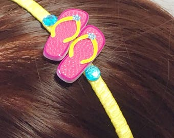 Pink Flip Flops - Hair Band- Free Shipping in the US