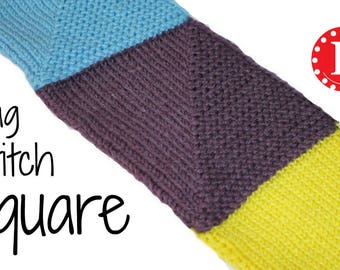 Loom Knitting PATTERN Flag Stitch Square with Video Tutorial by Loomahat