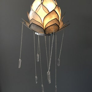 Crystal Mobile  Bohemian Mobile  Crystal Chandelier  Lotus Decor  Bohemian  Chandelier  Bohemian