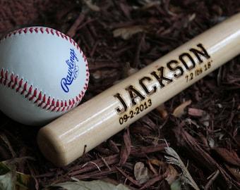 Customized 1 2 Baseball Bat Wall Decor