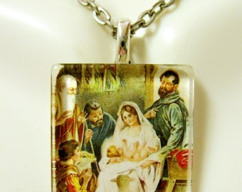The Nativity pendant with chain - GP02-061