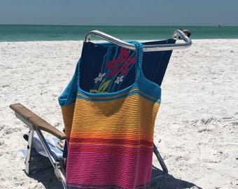 Sunset Beach Bag - Crochet Tote