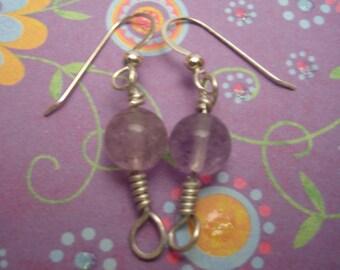 Fluorite Orb Earrings
