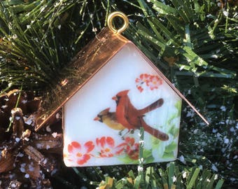 Copper Roofed Birdhouse Ornaments-Choice of 10 Styles