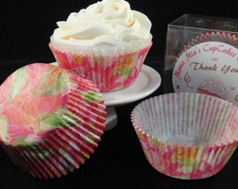 Abstract Flower Cupcake Liners