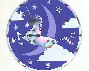Vintage 80's Prism Unicorn Sticker