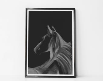 Horse II B&W | Art Prints