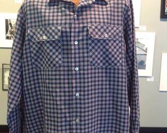 vintage mens Big Mac button up shirt