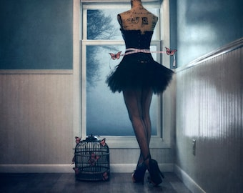 The Corsetiere - LIMITED EDITION, Matted Print, Surreal, Whimsical, Fine Art Photography