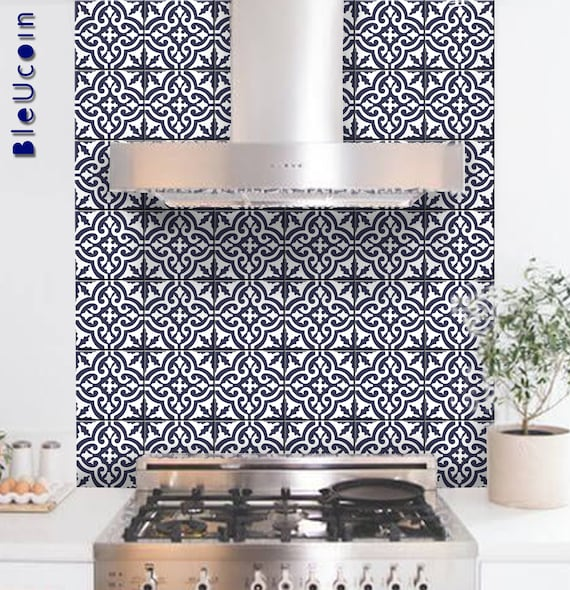 Tile Wall Decal Moroccan Tile Sticker For Kitchen Bathroom