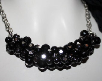 black pearl necklace, black pearl jewelry, black beaded necklace, black beaded jewelry, jewelry black pearls, necklace black, jewelry black