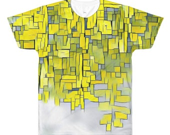 Yellow Grass Printed T-Shirt #ByEduardoDiCastro