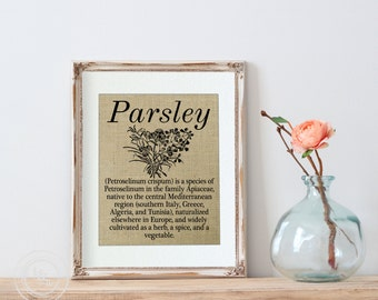 Parsley, Herb Prints, Kitchen Wall Art, Kitchen Decor, Home Decor, Herbalist, Herbal Print, Herbal Art Prints, Kitchen Art, Kitchen Prints