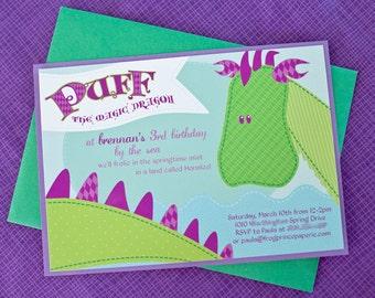 Dragon Birthday Printable Invitations