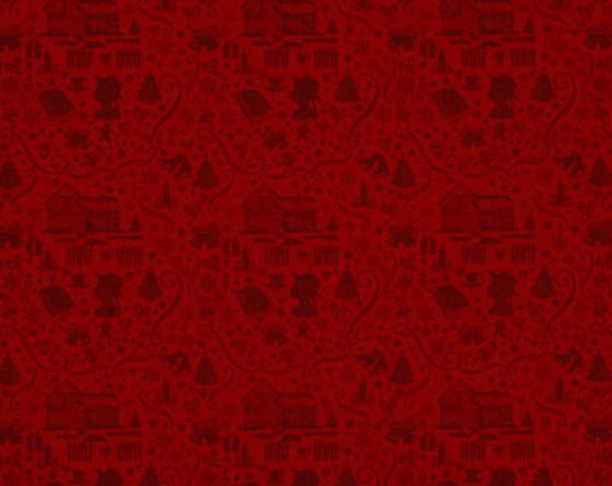 ANNE of GREEN GABLES, Red Silhouette Holiday Cotton Fabric by Penny Rose Fabrics for Riley Blake Designs 44 Inches