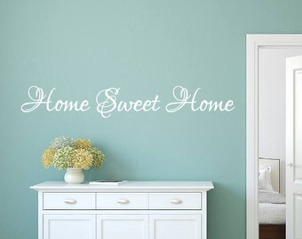 Home Sweet Home, Vinyl Wall Decal, Family, Home decor, Entryway, Living Room, Welcome, Gift, Vinyl Lettering, Wall decal, Vinyl decal, Home