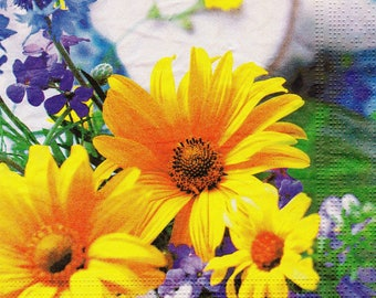 Yellow daisies 1 towel paper 33 X 33 X 4 pattern 365