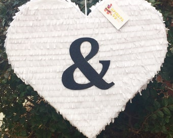 Ampersand Wedding Heart Pinata Ampersand Symbol Pinata 19""