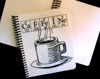 Caffeine Journal Notebook ElementeesTM for the nerd in you