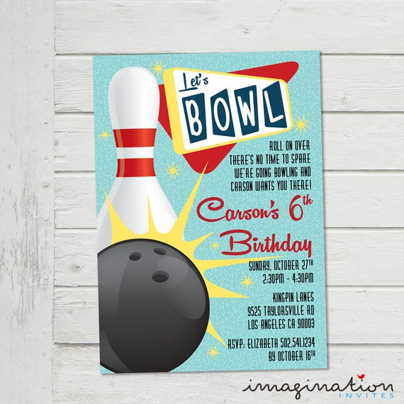 Bowling Invitation Ten Pin Bowling Invite ChildrenS Ten