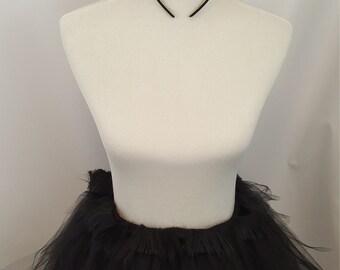 Adult Furry Cat Tutu, Black Cat Tutu, Furry Tutu, Black Fur Tutu, Catwoman Tutu, Black Cat Costume, Black Cat Cosplay, Furry Cosplay, Ears