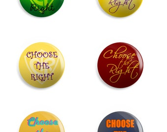 Choose the Right - CTR Button Pins, Magnets, or Key Chains | LDS | Primary | Mormon | keychain