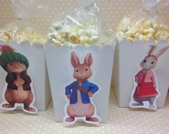 Peter Rabbit Popcorn or Favor Boxes - Set of 10