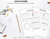 Daily Planner Printable, ...