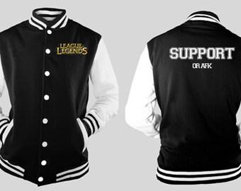 League of Legends SUPPORT varsity jacket