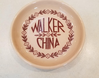 Walker China Advertising Coaster Dish  #37