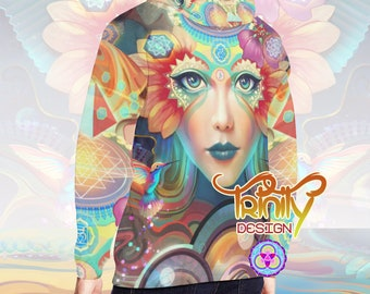Spiritual Clothing Hippie Clothes Men Psytrance Hoodie Psychedelic Hoodie Goa Clothing Rave Wear Music Festival Clothing EDM Hoodie Men EDC