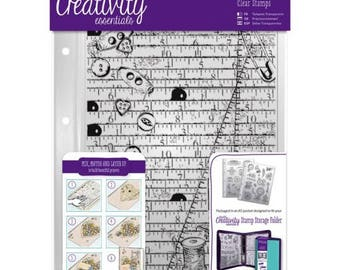 DOCRAFTS -  A5 Clear  Background Stamp-HABERDASHERY