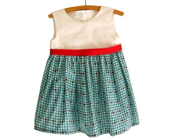 Größe: 2Y-10Y/ NORA Sommer Mädchenkleid Muster /