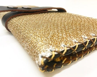 Textured leather Wallet
