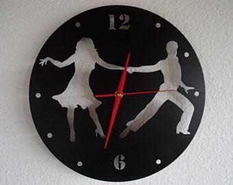 Clock dance Salsa couple dancer stainless steel wall Hauptmarkt design Wall Clock Love