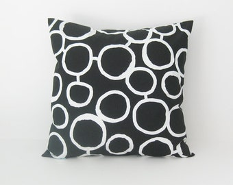 Black Pillow Cover Decorative Pillow Throw Pillow Accent Pillow 8 Sizes Available Cushion Cover