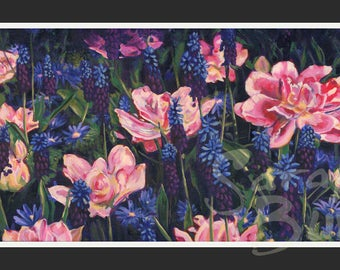 Pink Tulips - Print