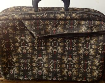 Vintage Suitcase, Fabric Suitcase, Photo Prop