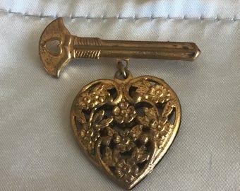 Heart And Arrow Brooch