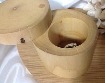Cufflink box. Cuff link jewellery box. Natural hazel cufflink gift box. Wooden Cufflink Holder. Hand carved. Mustard suede. Man Mens gift